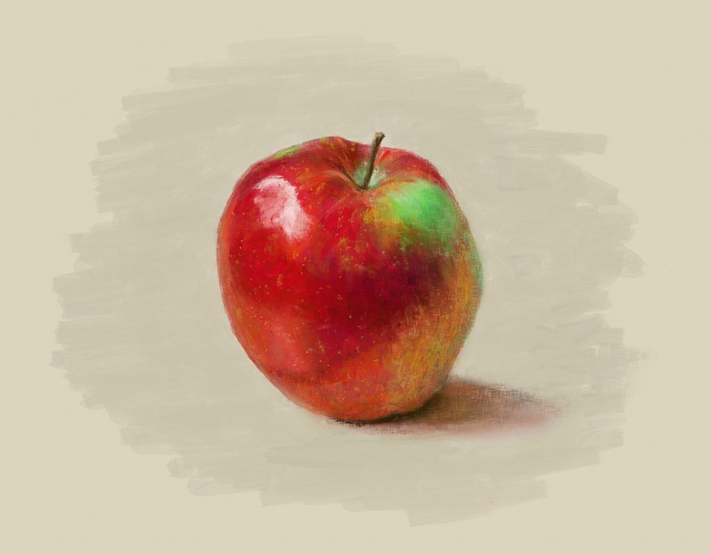 Apple - Still Life (digital painting)