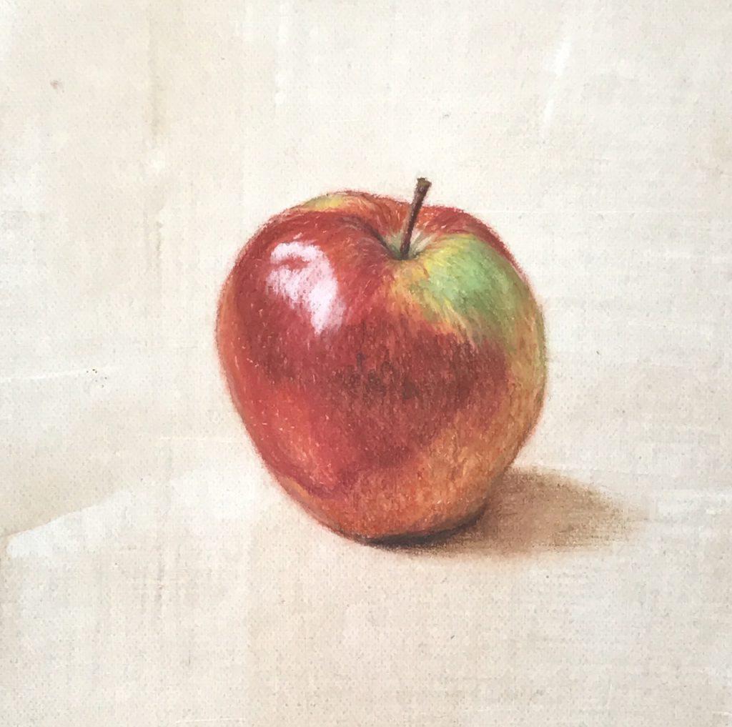 Apple 2 - Still Life (pastel pencils)