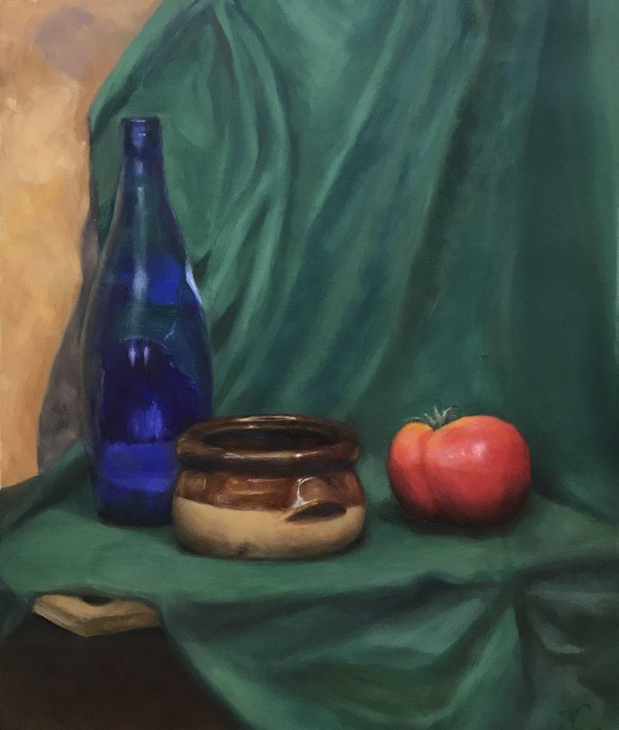 Ceramic Bowl - Still Life (oil on polyester canvas)